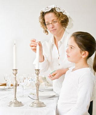 Ligting Shabbat Candles