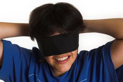 blindfold boy