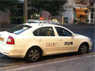 Taxi - in Hebrew - monit
