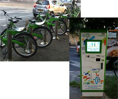 Rental Bicycles - in Hebrew - ofanaim lehaskara
