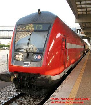 Train - in Hebrew - rakevet