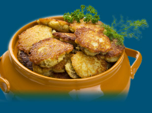 traditional latkes for Hanukkah