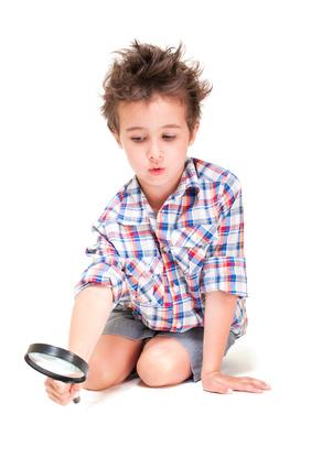 a kid exploring