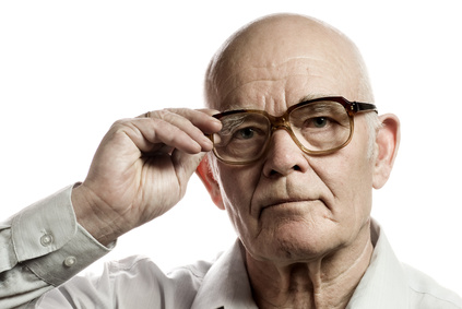 an older man wearing glasses