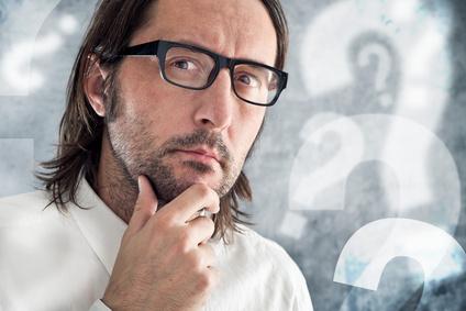 a man thinking