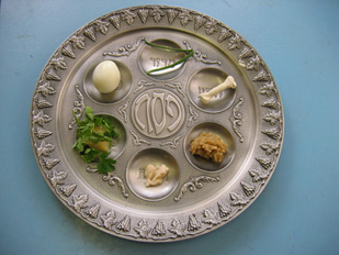 a Passover seder plate