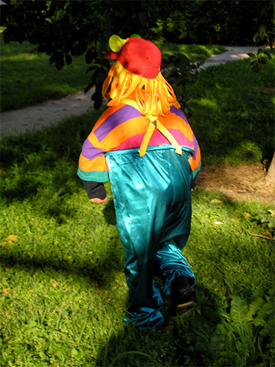 Clown costume for Purim - back