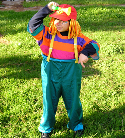 Clown costume for Purim - front