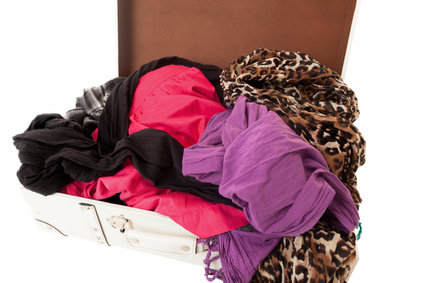a pile of fabrics