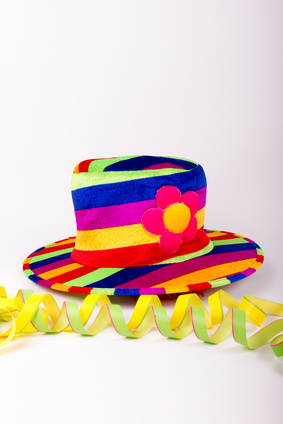 a colorful hat