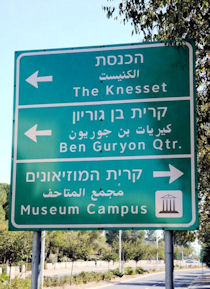 Jerusalem Directional Sign
